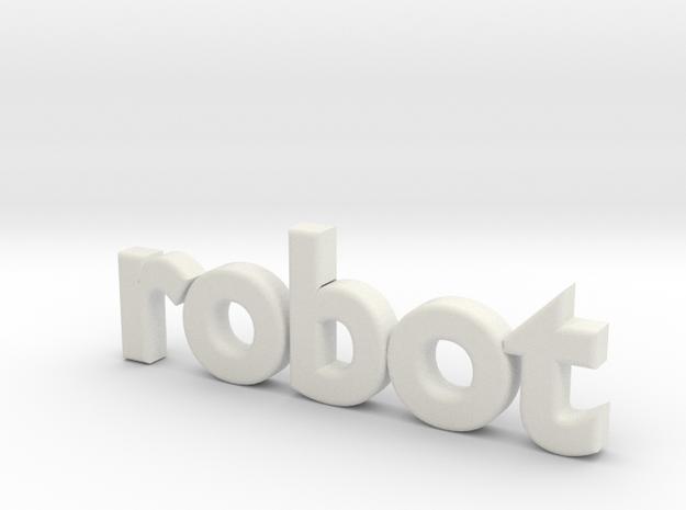 Robot 0002 in White Natural Versatile Plastic