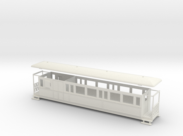 OO9 Large Tramway brake coach 3d printed