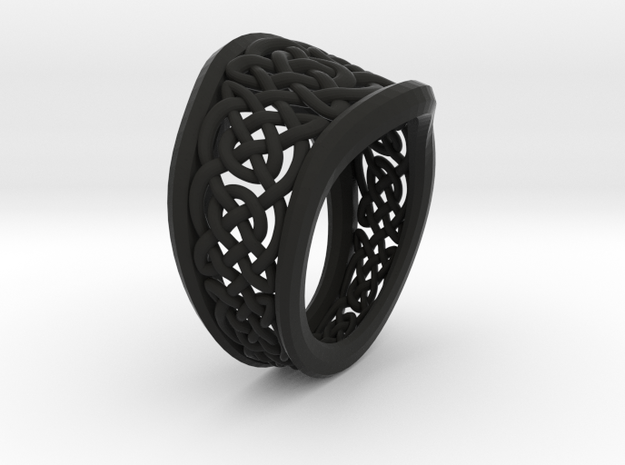 Another Celtic Knot Ring 3d printed
