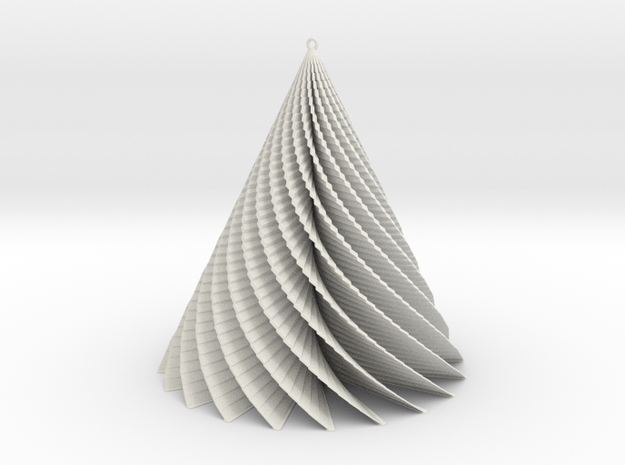 Christmas Tree swirl  3d printed