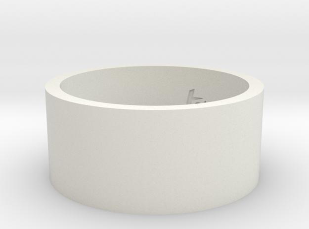 BrailleRing_Love_Int_19mmx10mm in White Natural Versatile Plastic
