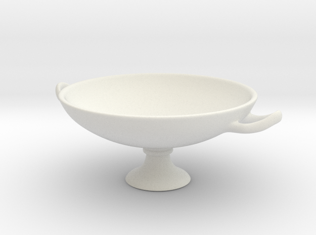 Greek Vase - Kylix A  in White Natural Versatile Plastic