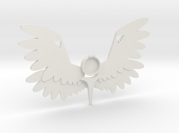Large Angel Pendant m2 in White Natural Versatile Plastic