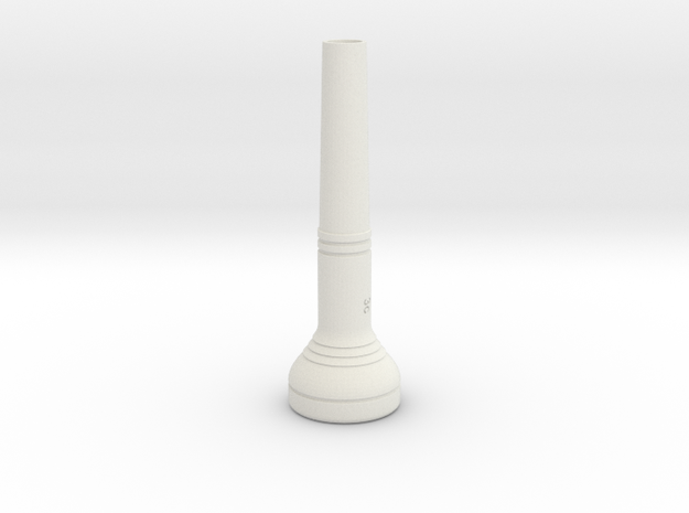 """3c"" Size Trumpet Mouthpiece in White Strong & Flexible"