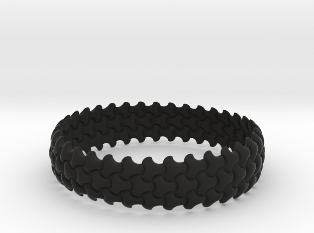 Trefoil Bangle 3d printed