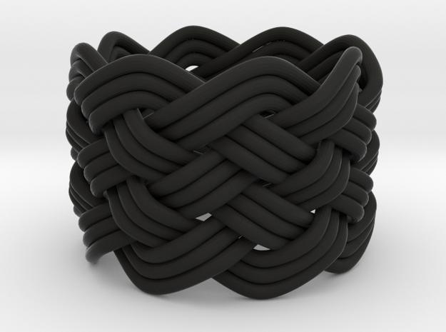 Turk's Head Knot Ring 6 Part X 8 Bight - Size 4.5 3d printed