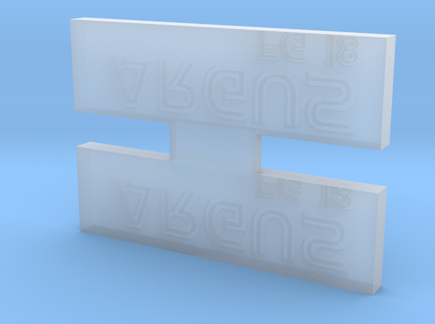 Argus Nameplate in Smooth Fine Detail Plastic