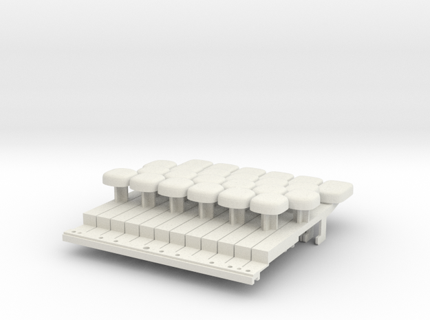 MK149 whole tone keyboard adaptor 3d printed