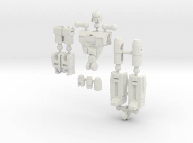 """Sparks"" Gunslinger figure  in White Natural Versatile Plastic"