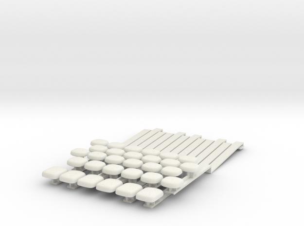 Upright piano whole tone keyboard adaptor in White Natural Versatile Plastic