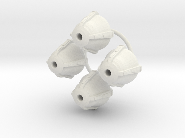 Deco Light globes 1/43 in White Natural Versatile Plastic