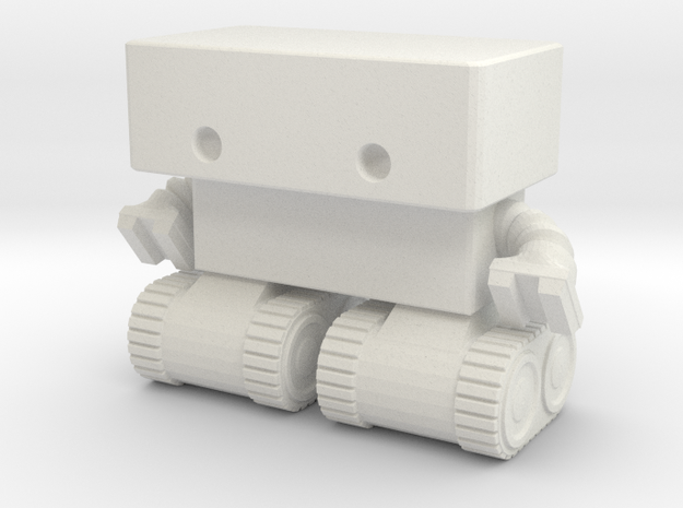 Robot 0025 Tank Tread Bot in White Strong & Flexible