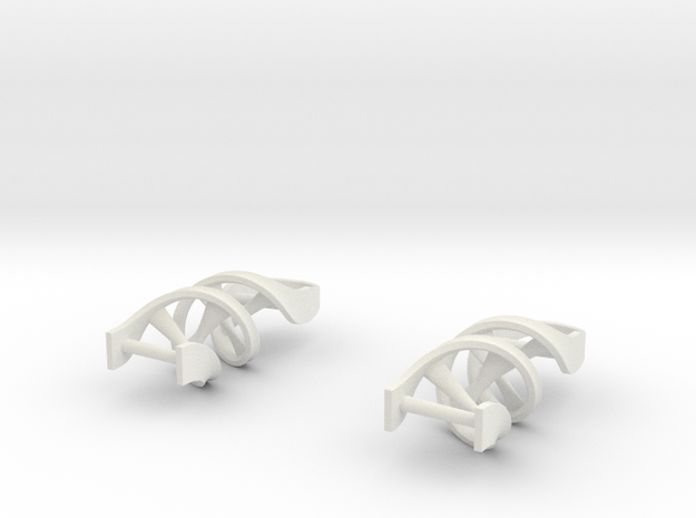 DNA Earrings 3d printed Stainless Steel