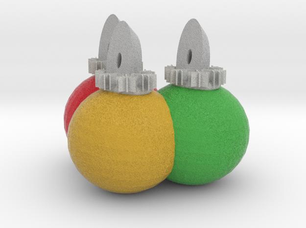 3 Xmas Ornaments sculpture 3d printed