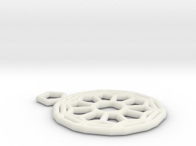 Fullerene pendant 3d printed