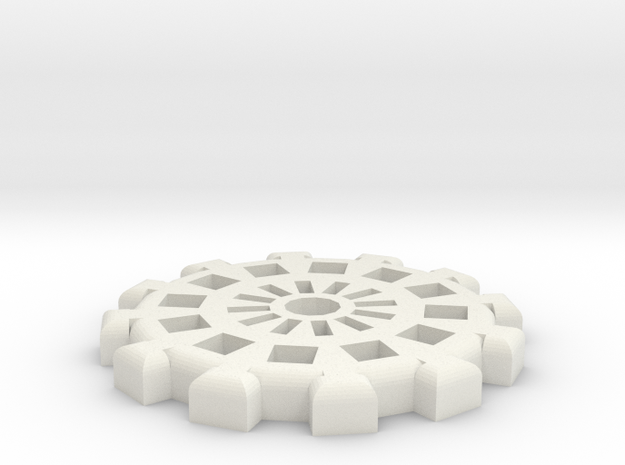 30mm Gear Base in White Natural Versatile Plastic