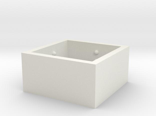 squareRing_Love_19mmx12mm in White Natural Versatile Plastic