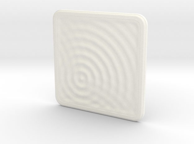 Plastic Coaster: Water Ripples 1 3d printed