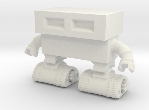 Tread Bot 0020 revised in White Natural Versatile Plastic