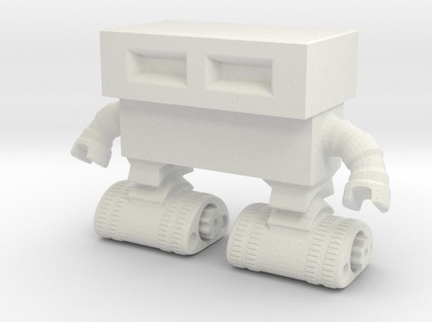 Tread Bot 0020 revised in White Natural Versatile Plastic