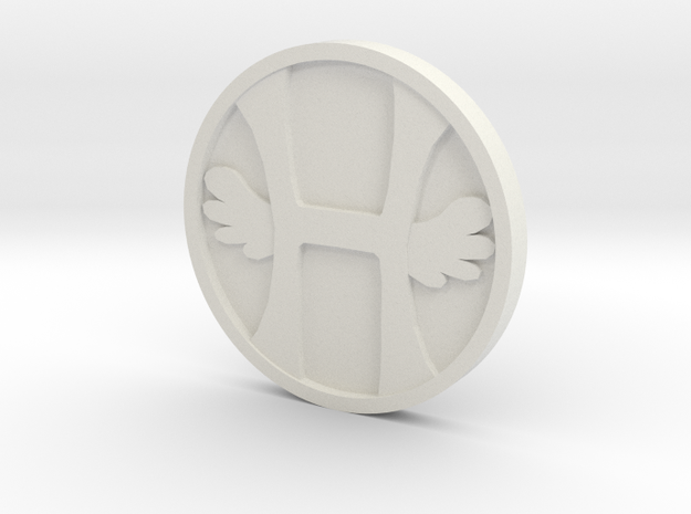 Heaven Coin - Single in White Strong & Flexible
