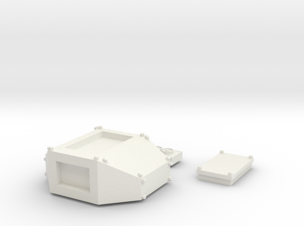 Turret in White Natural Versatile Plastic