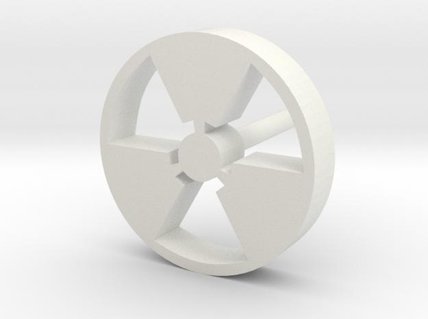 Nuke earring in White Natural Versatile Plastic