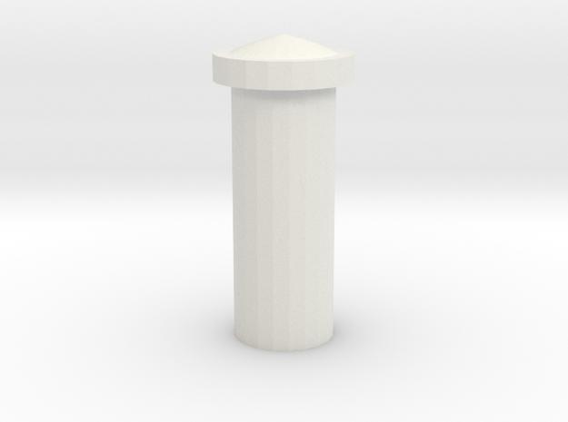 Saber-RK1 Pins in White Natural Versatile Plastic