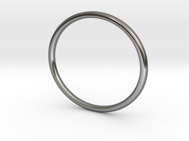Elegance Bangle in Polished Silver