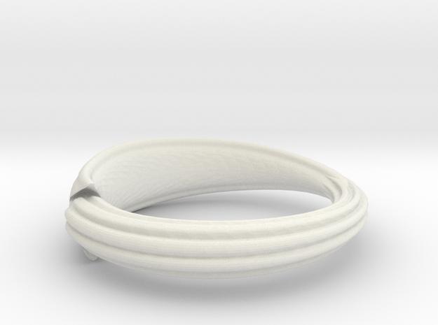 Squid ring in White Natural Versatile Plastic