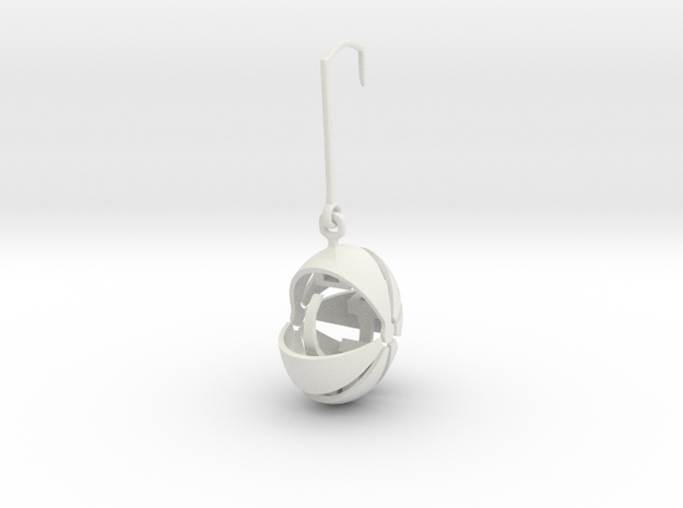 armadillo  earring stone keeper in White Natural Versatile Plastic