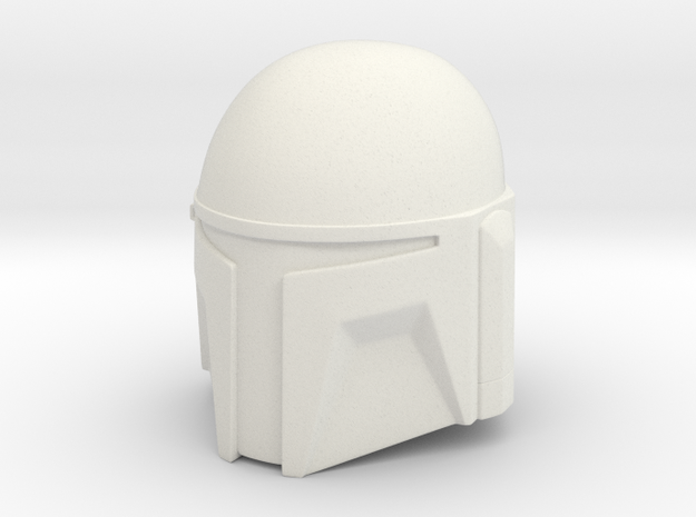 Custom T-Slit Helmet in White Natural Versatile Plastic