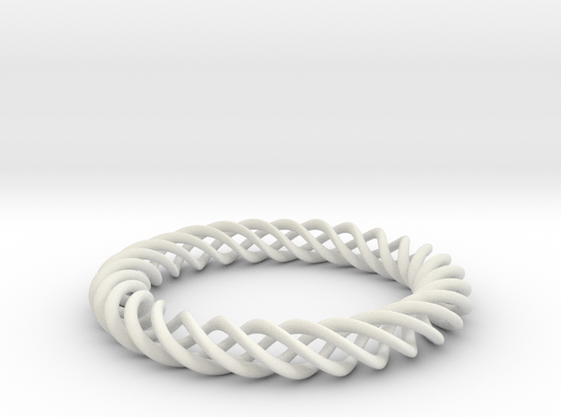 Braiding ring in White Natural Versatile Plastic