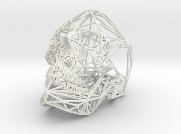 Hedricskull (small) in White Natural Versatile Plastic
