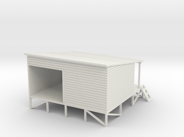 35 Ton Coal Shed 1:120 in White Natural Versatile Plastic