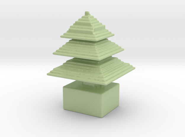 small xmas tree in minecraft 3d printed