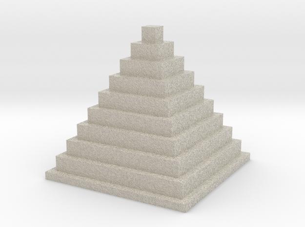 Minecraft Prymid in Natural Sandstone