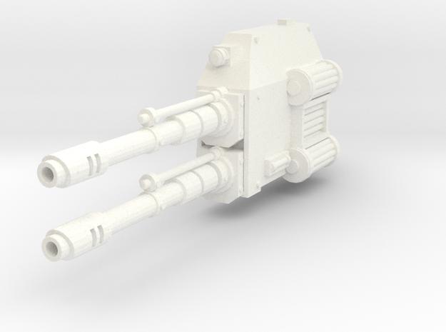 Mech Dual Gun Left Arm in White Processed Versatile Plastic