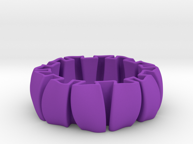 Spring Bracelet in Purple Processed Versatile Plastic