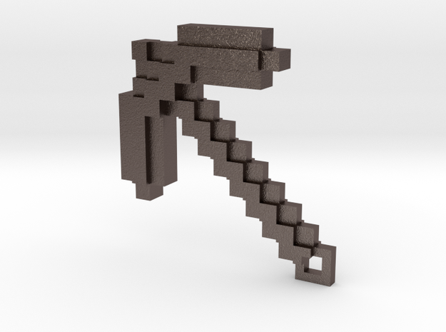 Minecraft - Pickaxe in Polished Bronzed Silver Steel
