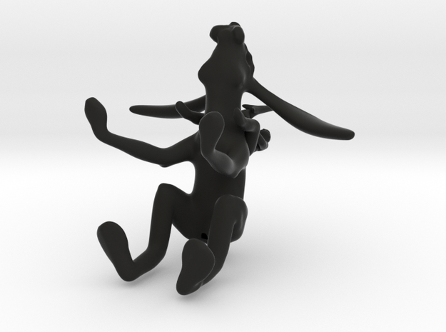 hare rider and umbrella 3d printed