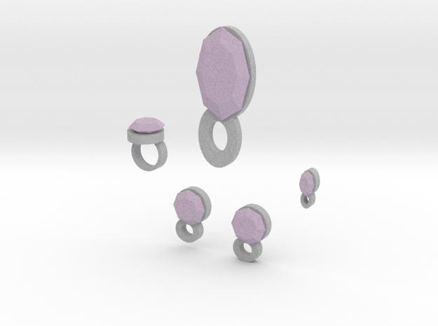 Lara Lavender Dreams Jewelry Set in Full Color Sandstone