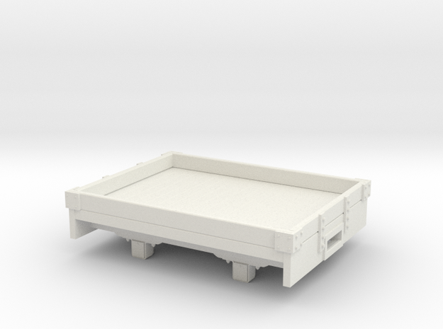 O9/0n18 1 plank wagon (Kadee) in White Natural Versatile Plastic