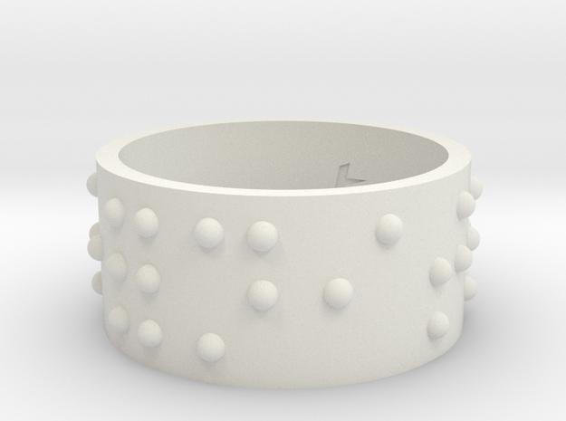 RoundRing_serenite_18-8_925 in White Natural Versatile Plastic