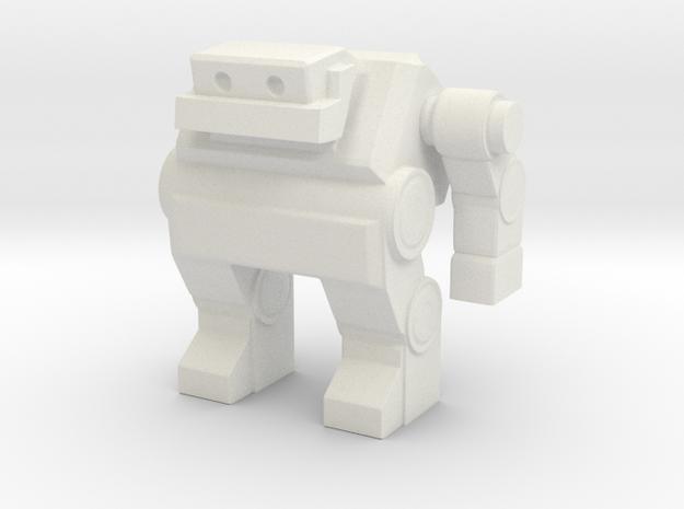 Robot 0032 Jaw Bot v3 02 in White Natural Versatile Plastic