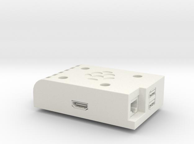 Raspberry Pi (rev.9) Stackable Case in White Natural Versatile Plastic