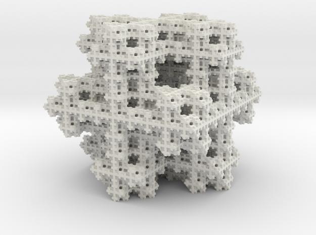 Koch Snowflake sponge in White Strong & Flexible