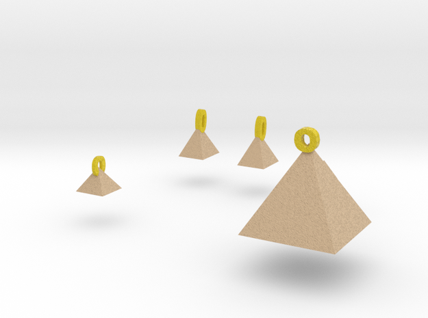 Pyramids Jewelry Set 3d printed