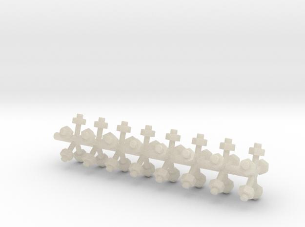 Miniature bolt heads 3d printed