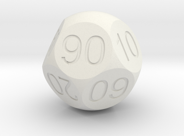 D Percent Sphere Dice 3d printed Antique Bronze Glossy